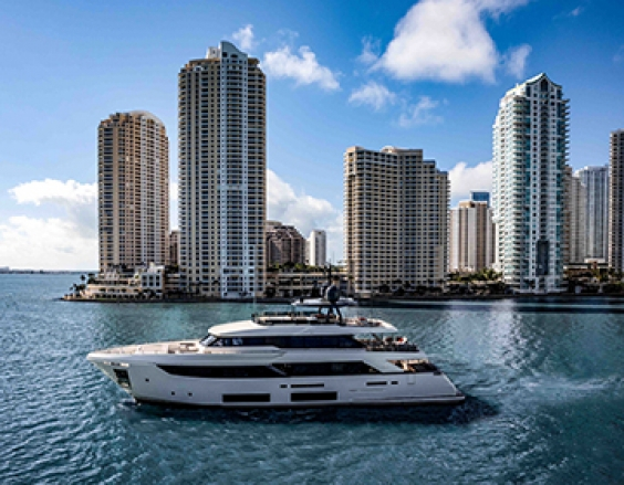 Custom Line Navetta 33, fresh off impressive North American debut in Miami.