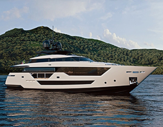The new addition to the Custom Line planing range presented at the 2018 Miami Yacht Show.