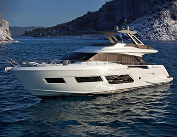 Ferretti Yachts 670: room for beauty