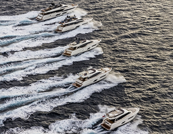 Ferretti Yachts celebrate their 50th Anniversary in Venice.