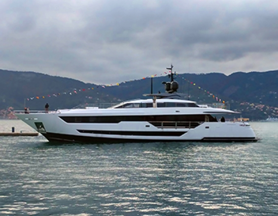 The first Custom Line 120 takes to the sea